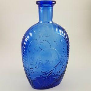 Other - Cobalt Blue Bottle w/ George Washington & Eagle